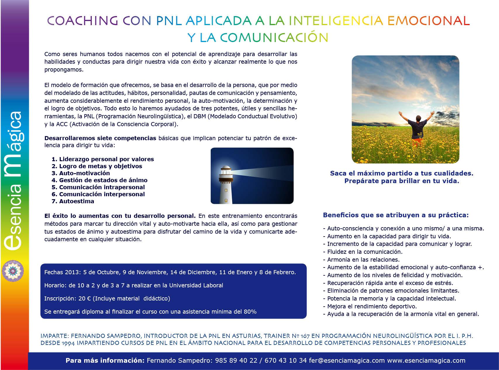folleto coaching con pnl 2013